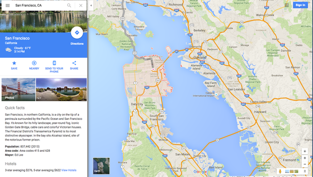 Get Ready For More Ads In Your Google Maps CBS News - Google maps san francisco