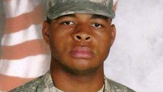 Micah Xavier Johnson is seen in an undated photo that was confirmed to be authentic by his former Army unit.