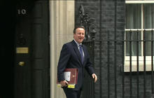 David Cameron bids farewell to 10 Downing Street