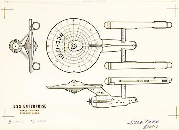 Blueprint Evolution Of The Starship Enterprise Pictures Cbs News