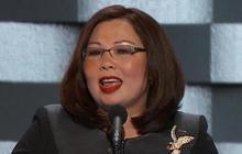 Rep. Tammy Duckworth speaks at the DNC