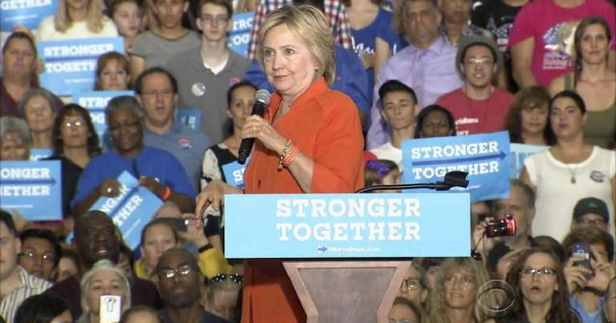 Hillary Clinton Goes On Jobs Tour In Florida Videos