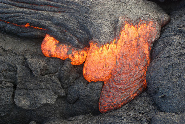 Spectacular show as Hawaiian lava hits Pacific Ocean