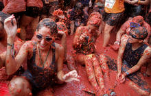 World's largest tomato fight