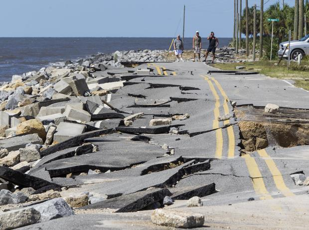 Hermine barrels ashore