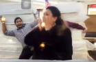 An image capture shows part of a video of a controversial online advertisement for the Miracle Mattress company in Texas.