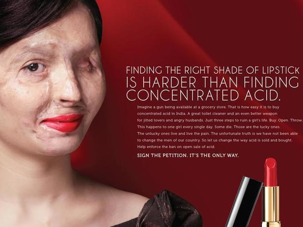 Acid attack survivor takes on NY Fashion Week