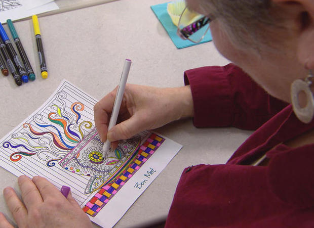 Adult coloring book fad