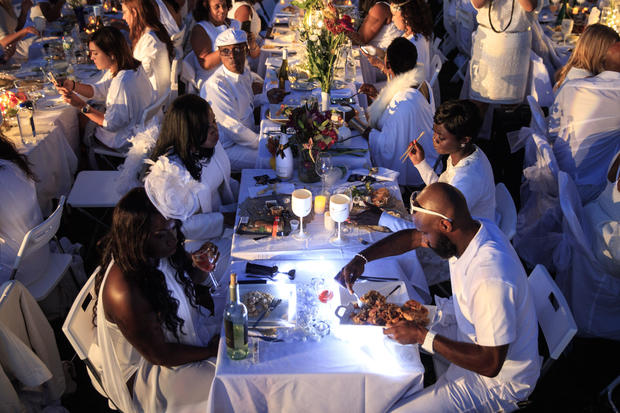 Dining all in white