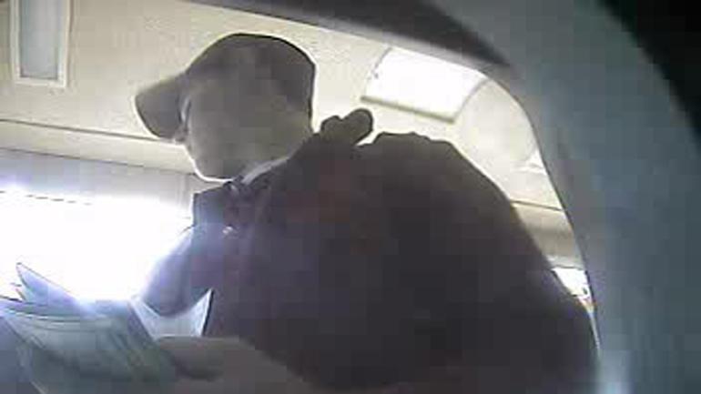 Wesley Freilich as seen in bank surveillance video