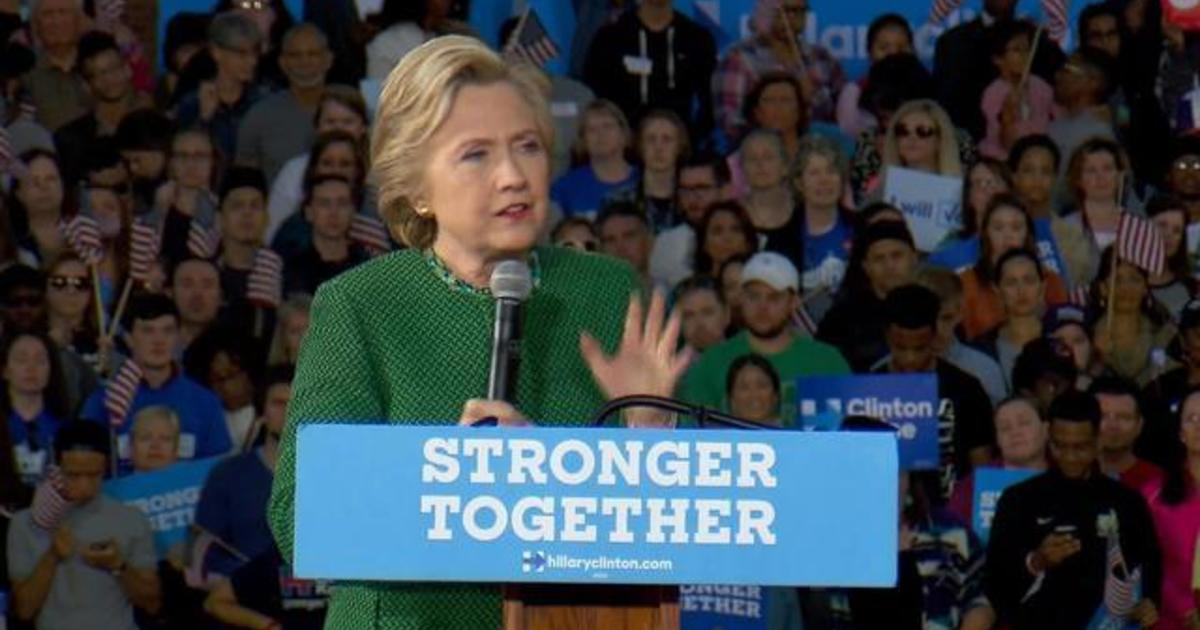 Hillary Clinton rallies voters in Charlotte, North Carolina - CBS News