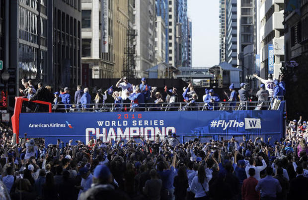 Victory Party World Series 2016 Chicago Cubs victory parade