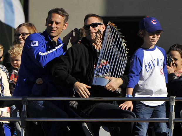 3ceefa30e Celebration - World Series 2016  Chicago Cubs  victory parade - Pictures -  CBS News