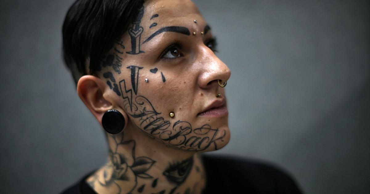 Shocking Face Tattoos Cbs News