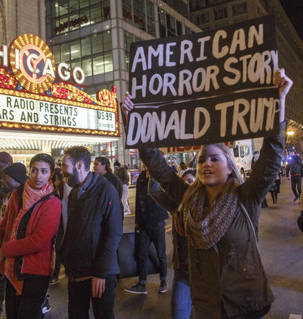 Trump protests