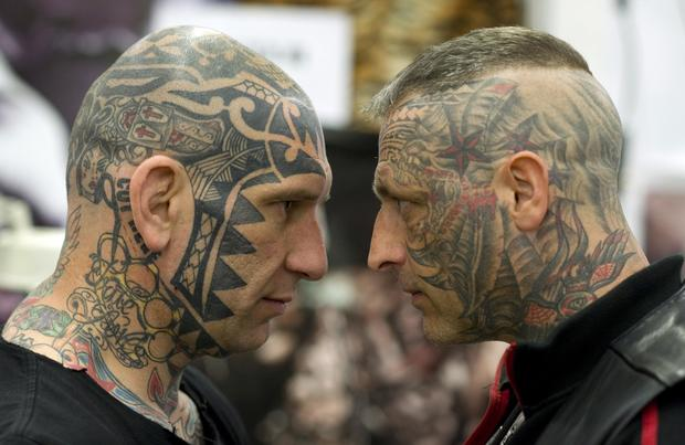 Shocking face tattoos