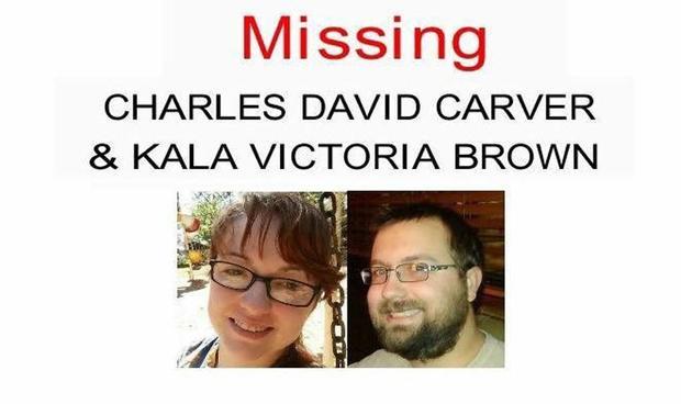Kala Brown and Charlie Carver missing poster