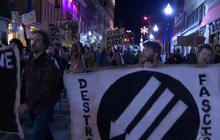 Anti-Trump protests continue for third consecutive night