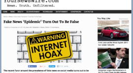 Don't get fooled by these fake news sites