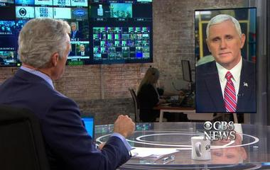 Mike Pence speaks with Scott Pelley on Trump, Carrier deal