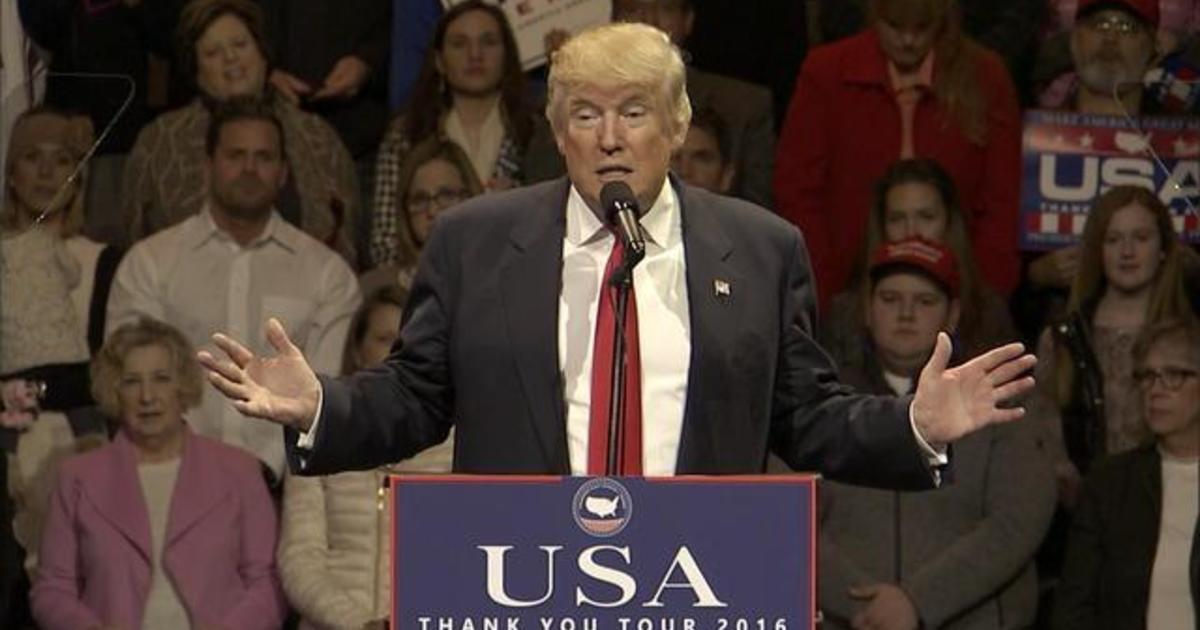Donald trumps cincinnati ohio rally cbs news publicscrutiny Images