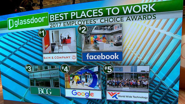 The 11 top American companies to work for - CBS News