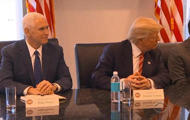 Donald Trump meets with tech firm leaders -- with one big exception