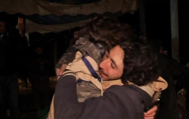 Emotional reunions for Syrians evacuated from Aleppo