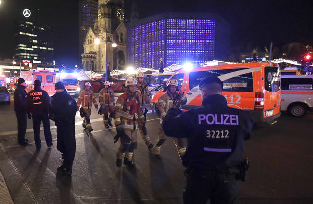 Truck plows into Berlin Christmas market