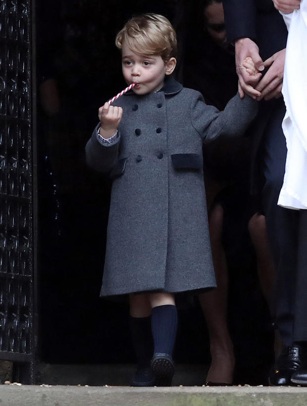 Prince George steals the show as Royal Family leaves Christmas Day ...