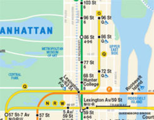 Q Line Subway Map.Nyc Welcomes Second Avenue Subway Cbs News