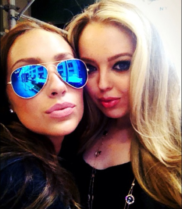 Tiffany Trump and Gaïa Jacquet-Matisse are seen in 2012.