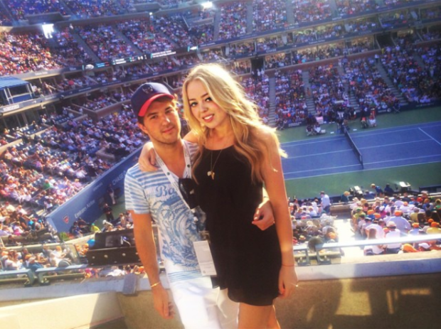 Tiffany Trump and Andrew Warren at the U.S. Open in 2014.