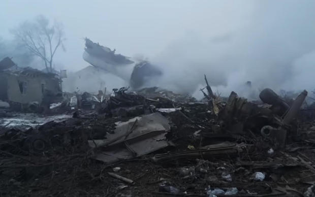 Plane crash destroys Kyrgyzstan village