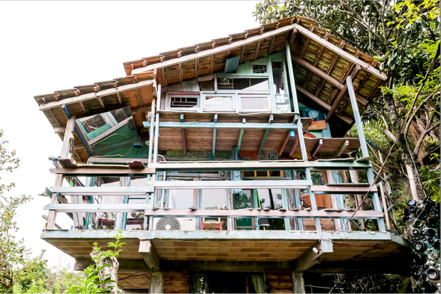 8 homes made from recycled materials cbs news for Best ways to save money when building a house