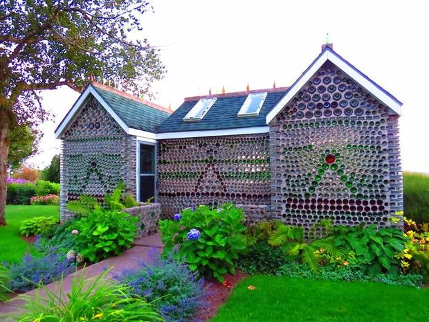 Houses Built With Recycled Materials : The bottle houses cap egmont prince edward island