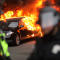 Police and demonstrators clash in downtown Washington after a limo was set on fire following the inauguration of President Trump on Jan. 20, 2017, in Washington.