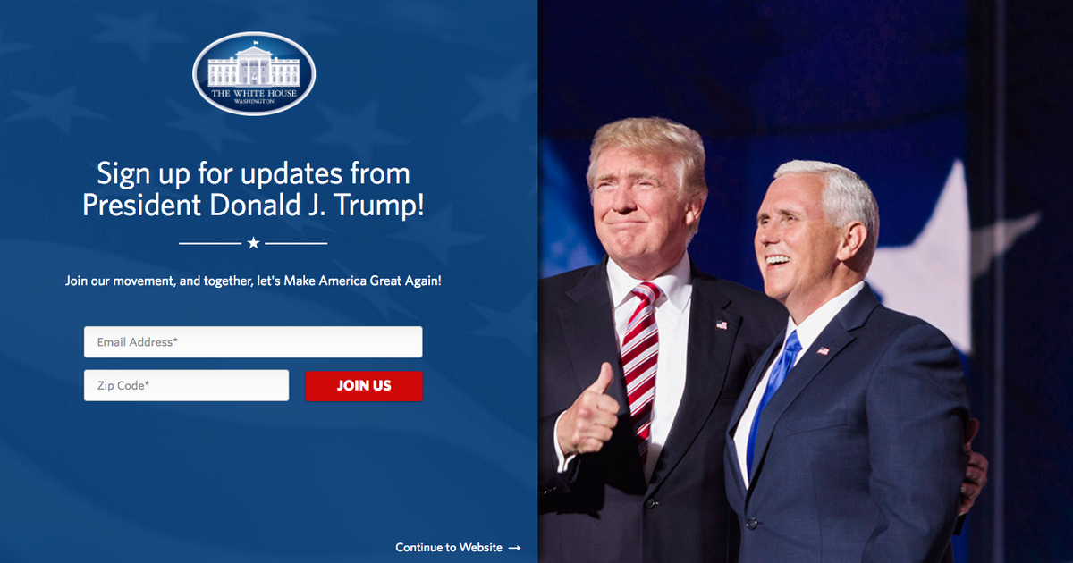 Moments after Donald Trump became president, the White House's LGBT rights page disappeared