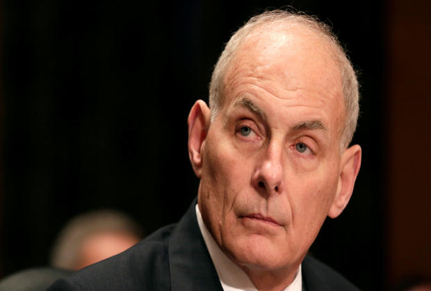 Retired Gen. John Kelly testifies before a Senate Homeland Security and Governmental Affairs Committee confirmation hearing on Kelly's nomination to be secretary of the Department of Homeland Security on Capitol Hill in Washington Jan. 10, 2017.