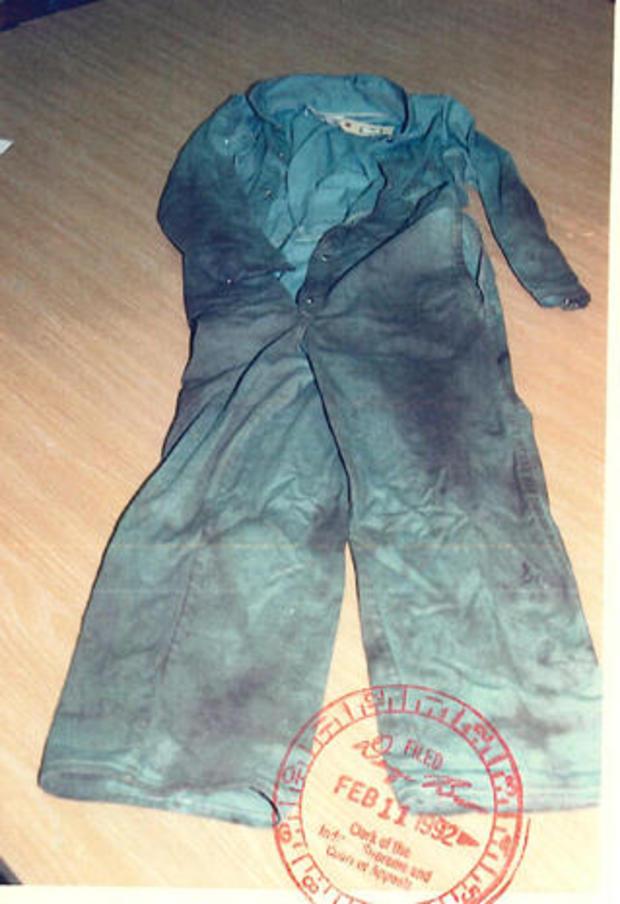 rape evidence - stolen coveralls
