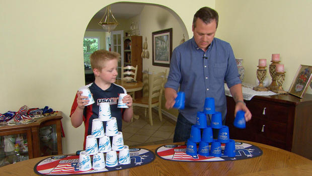 the fast paced world of sport stacking cbs news