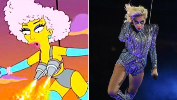 the simpsons predicted lady gaga s super bowl performance in 2012