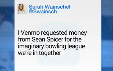Venmo account appearing to belong to Sean Spicer trolled