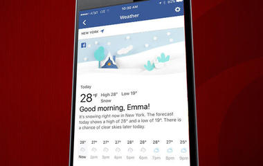 Facebook wants to replace your weather app