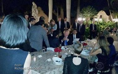 Questions about national security briefing in Mar-a-Lago dining room