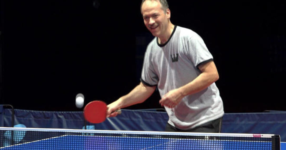 Puzzle master Will Shortz\'s other passion: Ping pong - CBS News