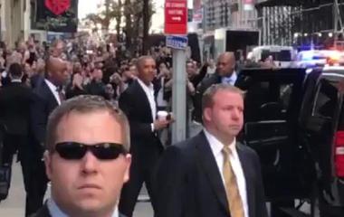 Obama in New York City