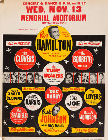 Roy Hamilton - Rare concert posters on the auction block