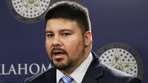 Oklahoma state Sen. Ralph Shortey, R-Oklahoma City, speaks at a news conference in Oklahoma City April 29, 2015.