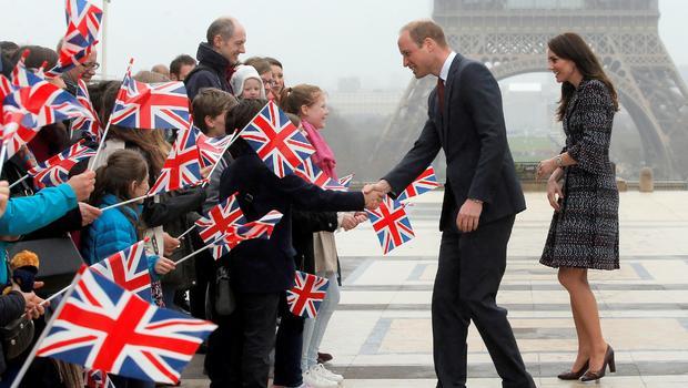 Duke and Duchess of Cambridge visit Paris